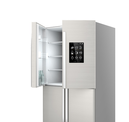 open two door refrigerator
