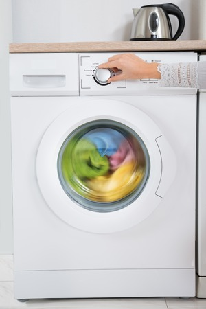 turning on dryer